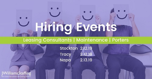 Leasing, Maintenance, & Porter Jobs - Career Hiring Events, Northern California